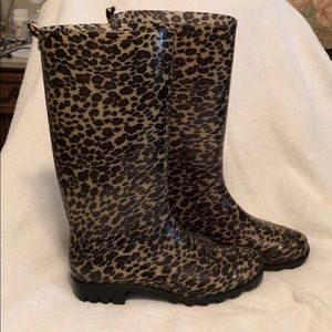 Cheetah Rainboots